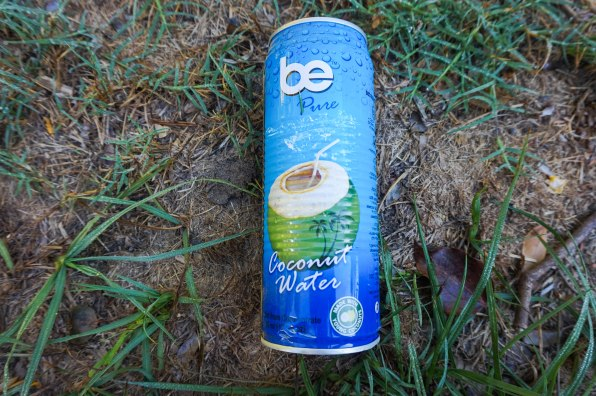 Be Pure coconut water can