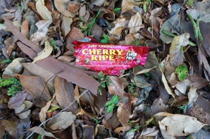 Cherry Ripe chocolate bar wrapper